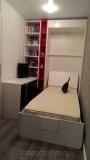 Откидная кровать со стеллажом и письменным столом